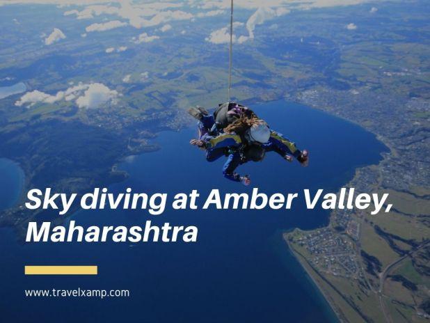 Sky diving at Amber Valley, Maharashtra