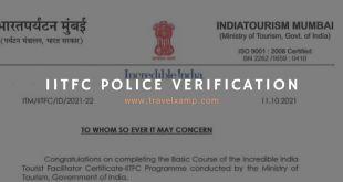 IITFC Police Verification Letter