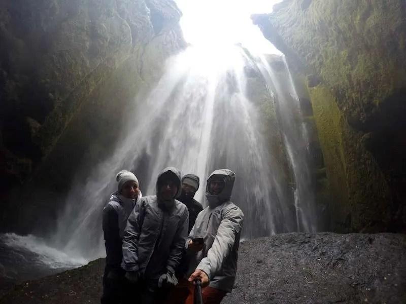 wet waterfall selfie in iceland well worth it