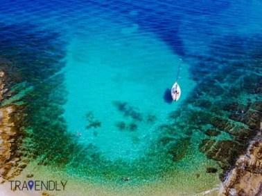 Beautiful sea colors of Brac island in Croatia