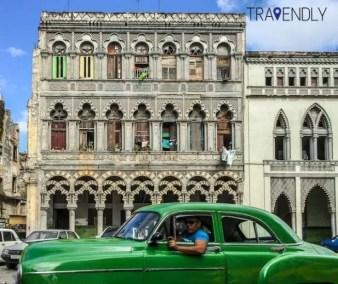Colonial building in Havana Cuba