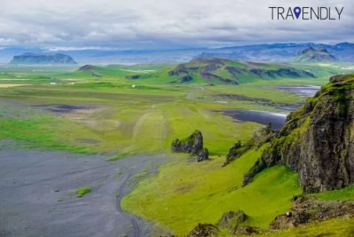 Colorful countryside near Dyrholaey in southern Iceland