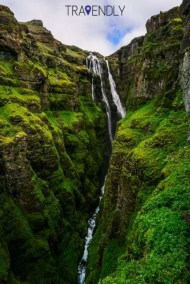 Glymur waterfall in Iceland out of Jurassic Park