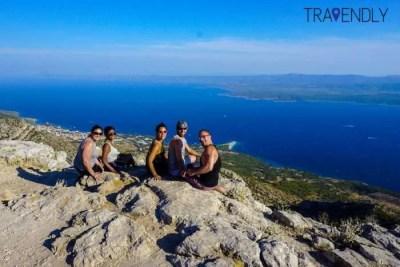 Highest point on Brac island, Croatia