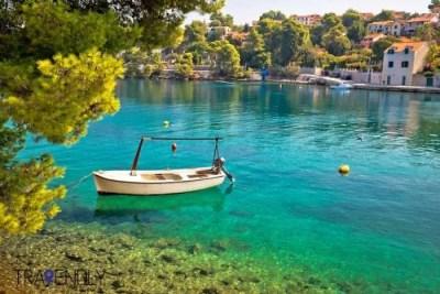 Splitska village on Brac island Croatia