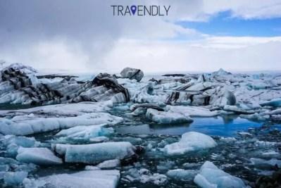 Icebergs in the Jokulsarlon Lagoon