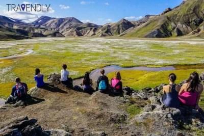 Reflecting on thoughts in Landmannalaugar Iceland