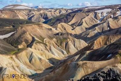 Painted mountains of Landmannalaugar Iceland