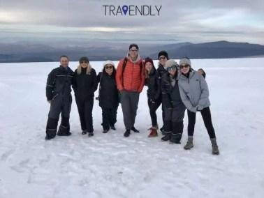 On the top of Langjokull glacier, Iceland