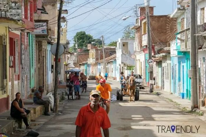 Daily commute of Trinidad Cuba