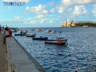 Along the Malecon in Havana