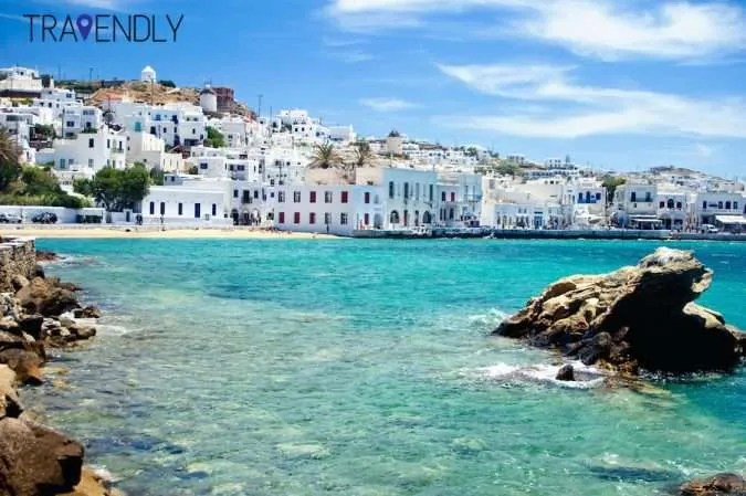 Mykonos Town blue sea