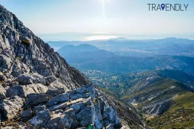 Views from the Zeus hike on Naxos island