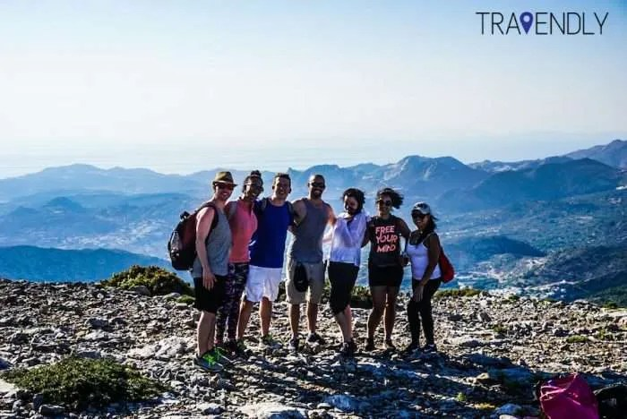 Naxos Zeus hike summit shot