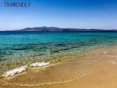 Beautiful plaka beach on Naxos, Greece