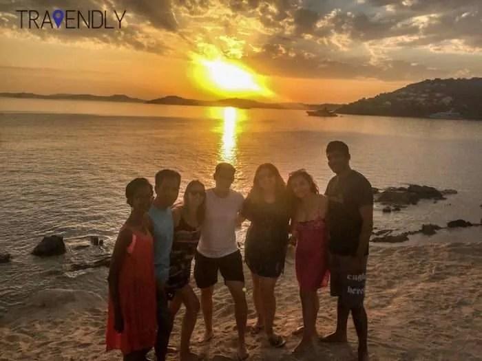 Scorpios beach club sunset view