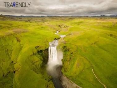 Skogafoss waterfall in southern Iceland