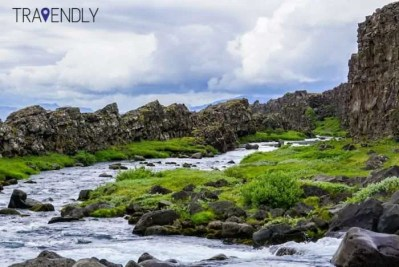 Rock formations in Thingvellir Iceland