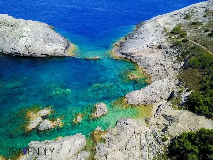 Turquoise water on Vis island, Croatia
