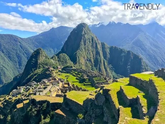 Beautiful Machu Picchu shot on a sunny day
