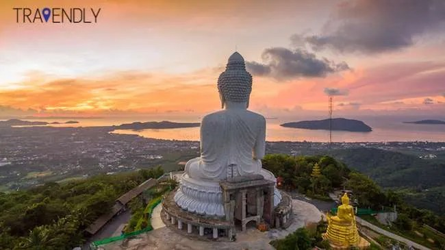 Sunrise over Big Buddha in Phuket