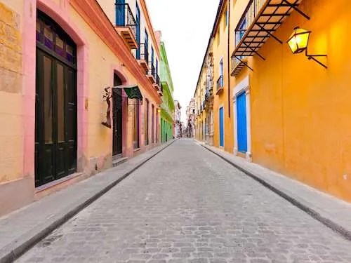 Colorful buildings of Old Havana Cuba