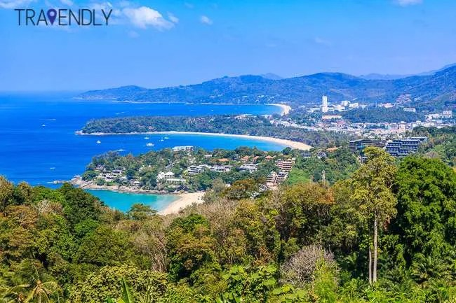 View point of Karon Beach Phuket