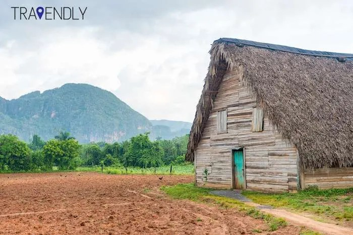 Barn used for curing tobacco in Vinales Cuba