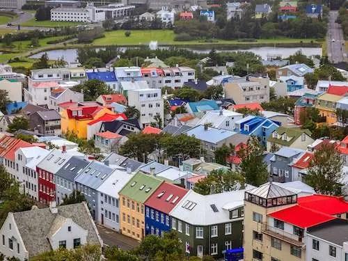 Colorful homes of Reykjavik Iceland