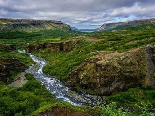green nature Glymur Iceland