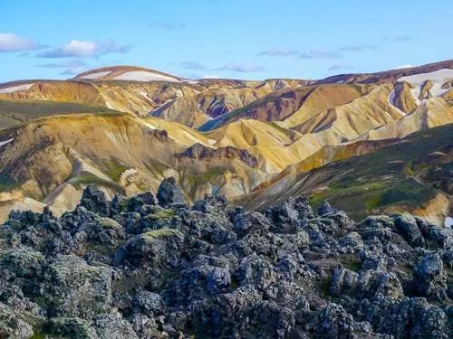 Landmannalaugar lava rocks mountains Iceland