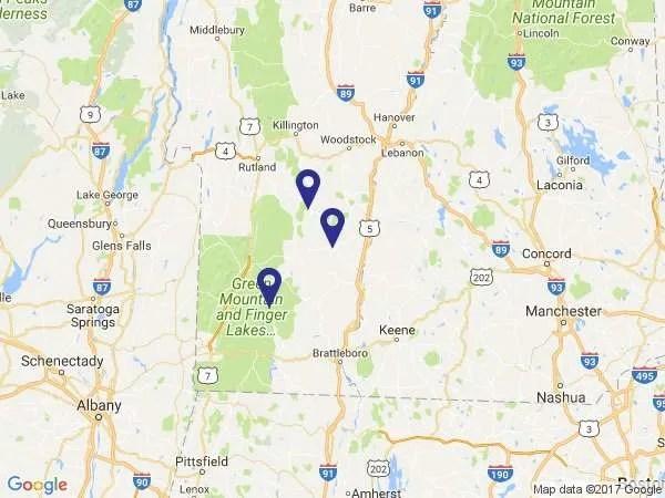 group ski trip map