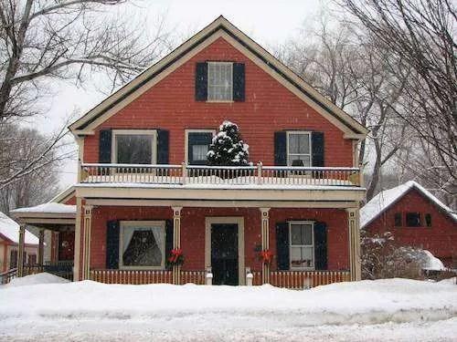 group ski trip winter home vermont