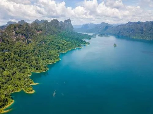 Khao Sok National Park Thailand drone view