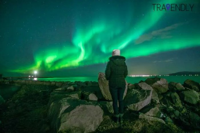 Mandatory solo shot in front of Northern Lights in Iceland