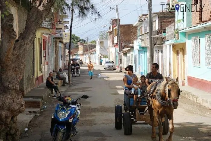 Daily commute in Trinidad Cuba group tour