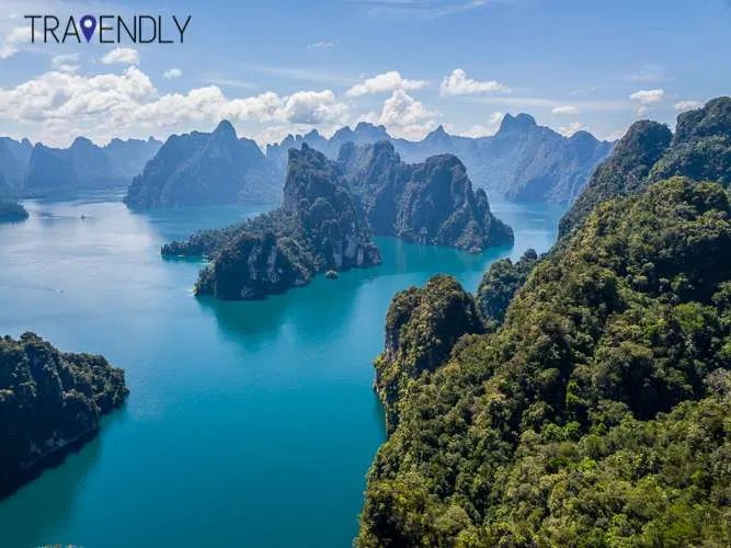 Drone view of Khao Sok National Park Thailand