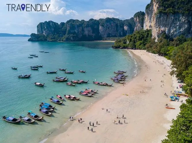 Peaceful and beautiful Railay Beach, Krabi, Thailand