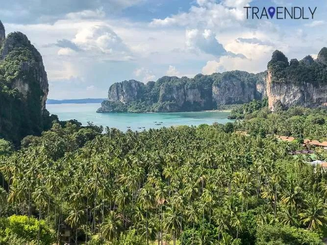Railay Beach from a stunning view point