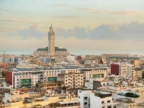 Casablanca cityscape Morocco