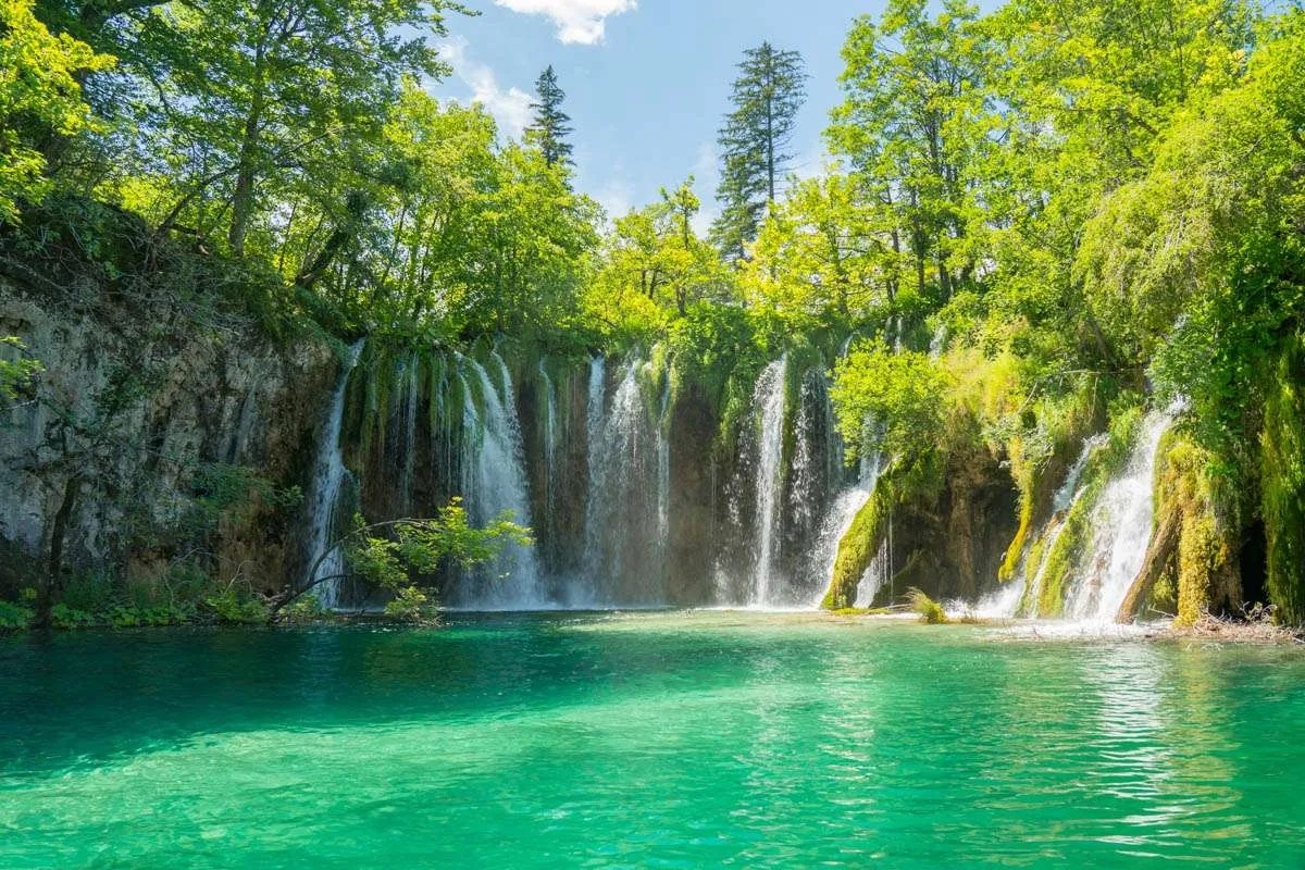 Amongst the many waterfalls in Plitvice Lakes National Park