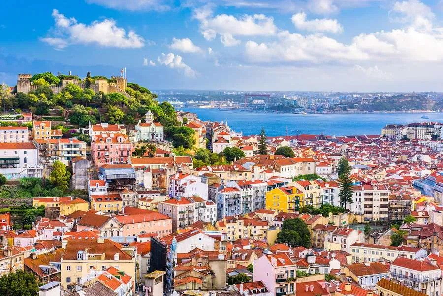 Colorful city of Lisbon Portugal