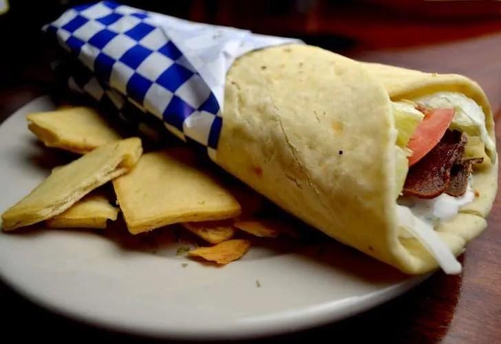 Gyro traditional Greek food
