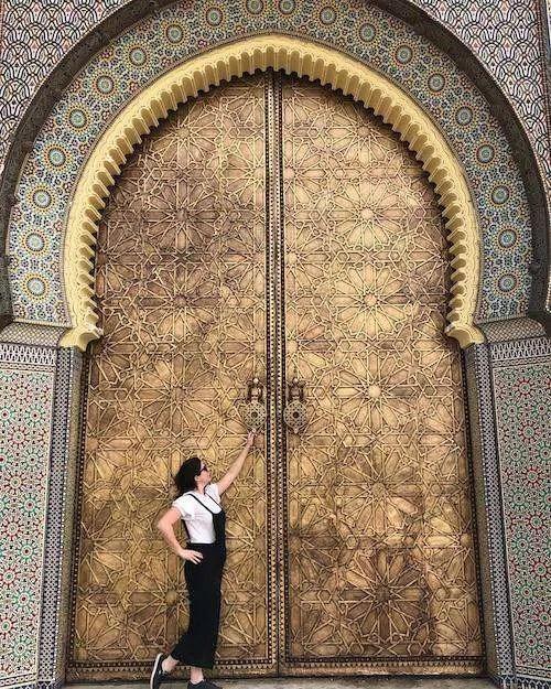 Phoebe Moroccan door