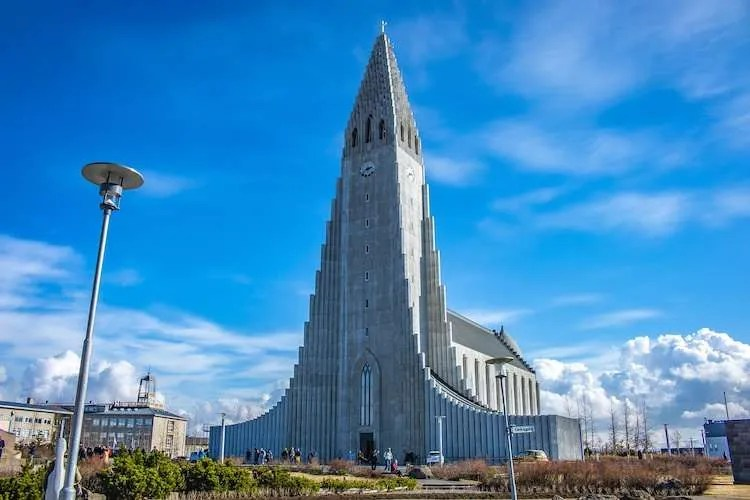 hallgrimskirkja church central Reykjavik