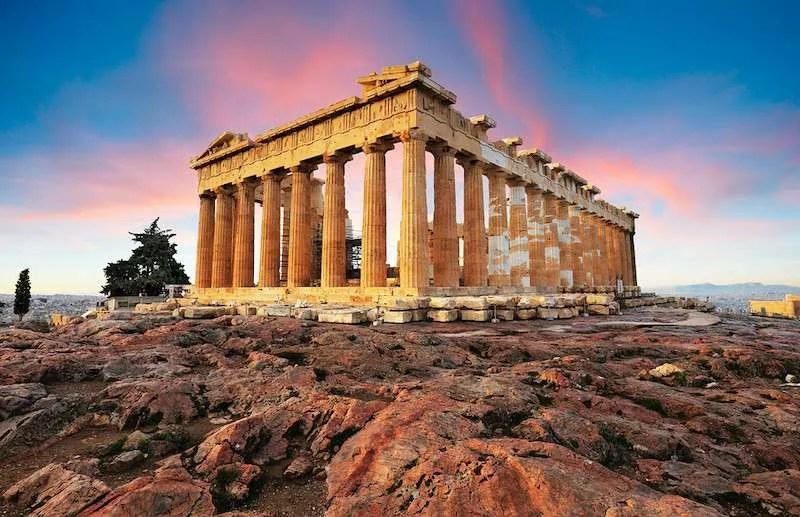 Parthenon on Acropolis Athens sky