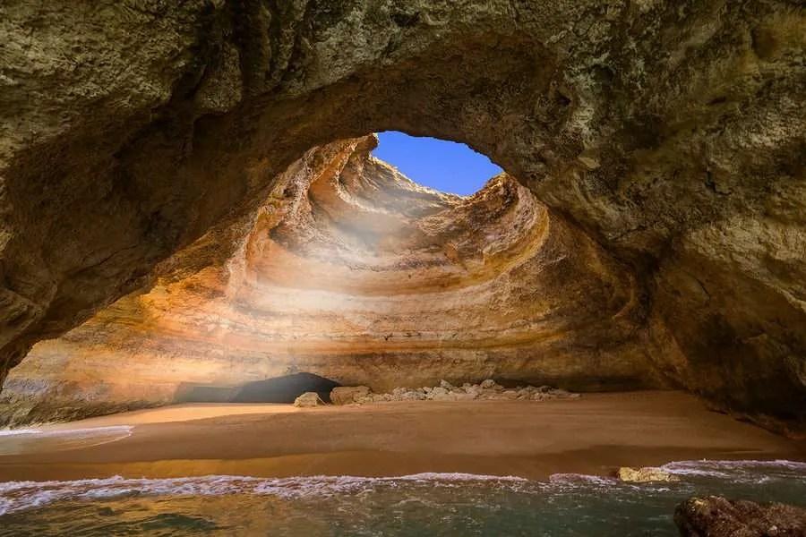 Benagil cave Algarve Portugal from sea