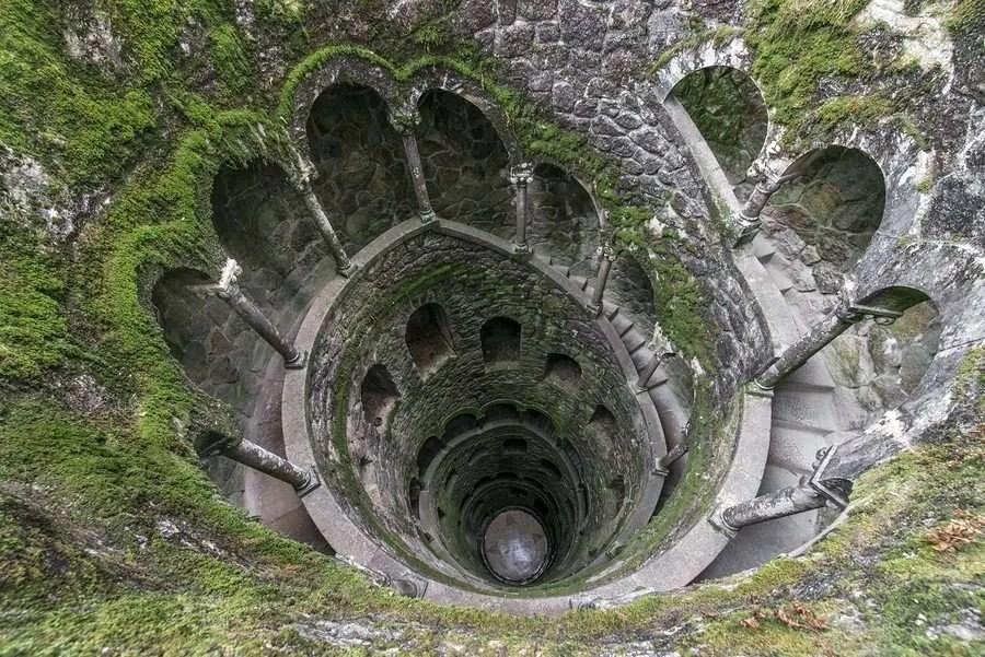 Initiation well of Quinta da Regaleira Sintra Portugal
