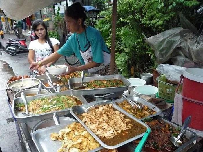 Street food vendor in Bangkok Thailand