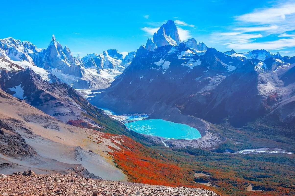 fitz roy and cerro torre Argentina Patagonia